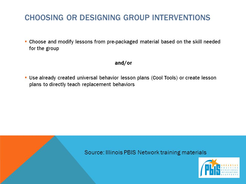 Choosing or Designing Group Interventions