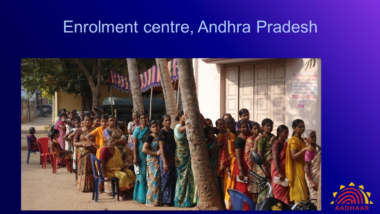 Enrolment centre, Andhra Pradesh