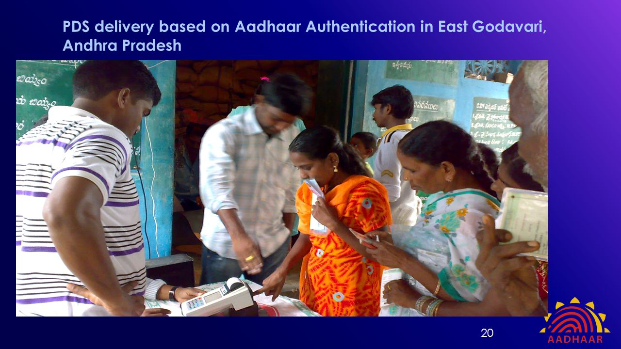 PDS delivery based on Aadhaar Authentication in East Godavari, Andhra Pradesh