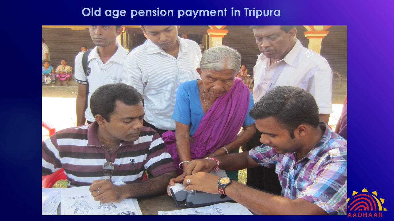 Old age pension payment in Tripura