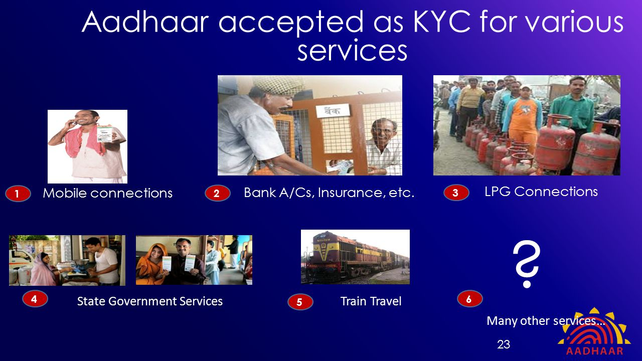 Aadhaar accepted as KYC for various services LPG Connections