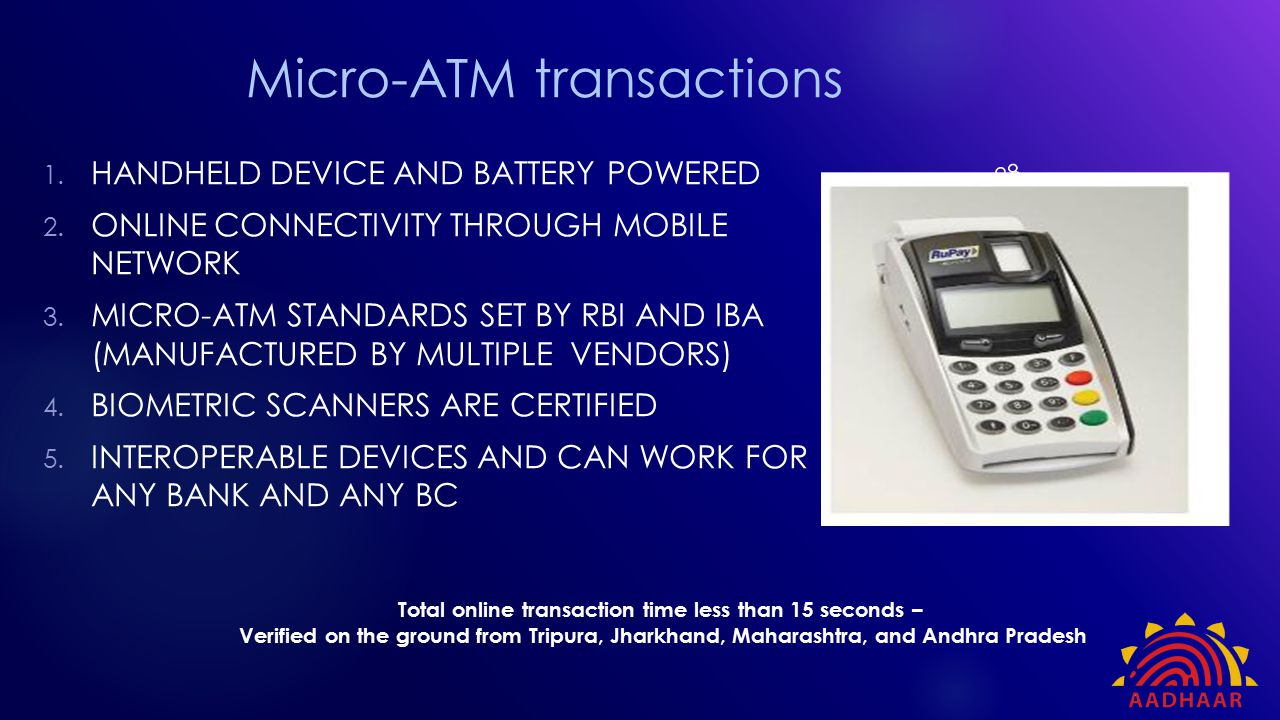 Micro-ATM transactions