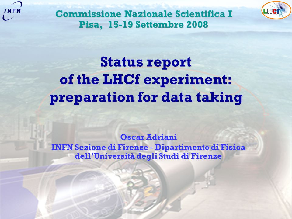 Status report of the LHCf experiment: preparation for data taking
