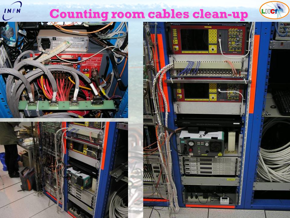 Counting room cables clean-up