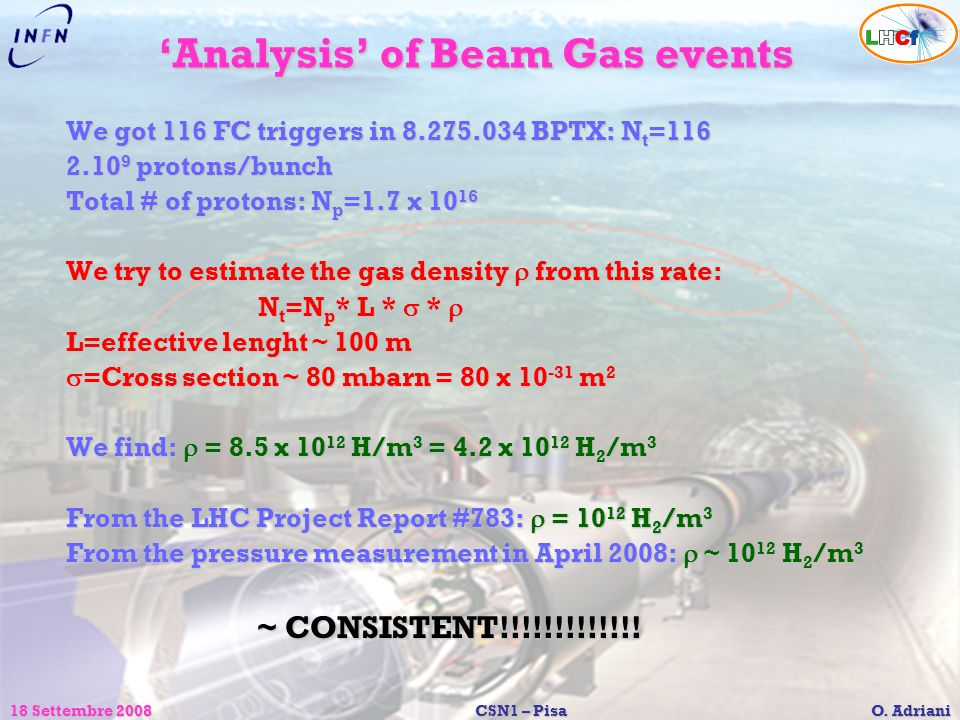 'Analysis' of Beam Gas events