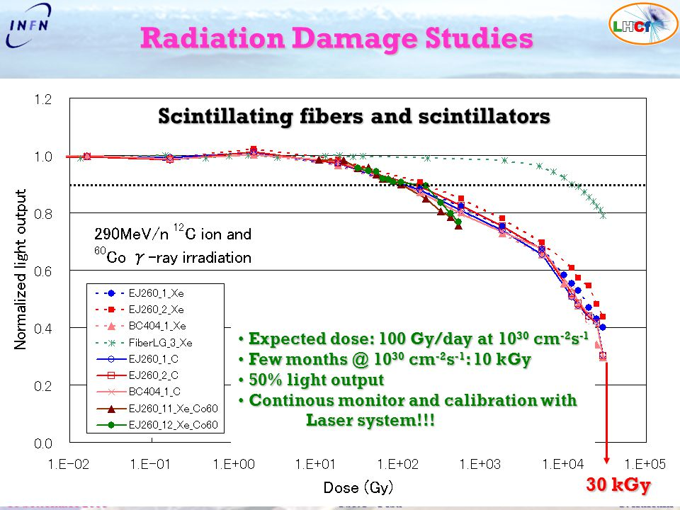 Radiation Damage Studies