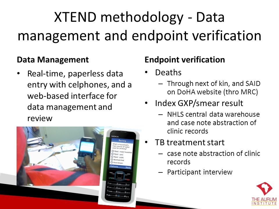 XTEND methodology - Data management and endpoint verification