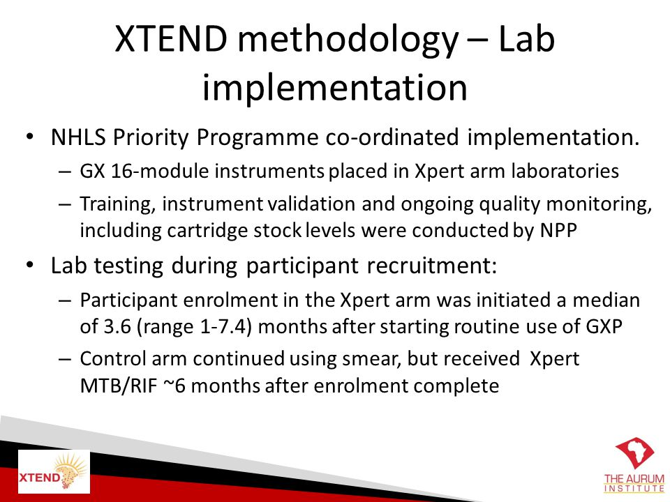 XTEND methodology – Lab implementation