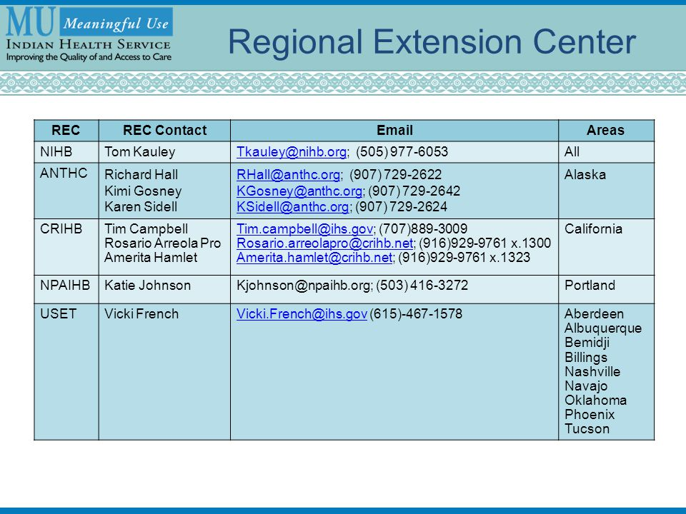 Regional Extension Center