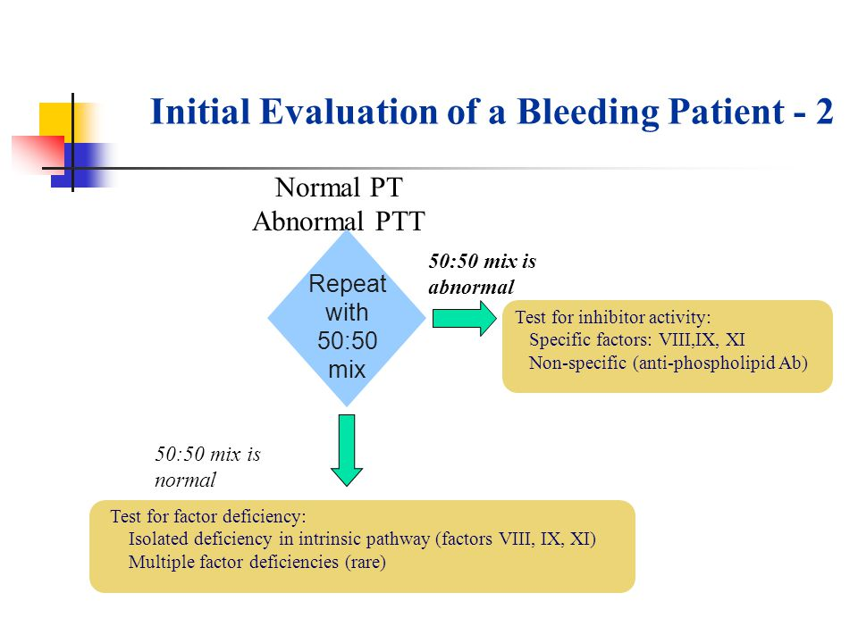 Initial Evaluation of a Bleeding Patient - 2