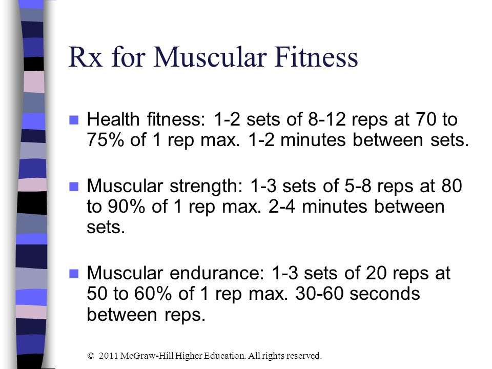 Rx for Muscular Fitness