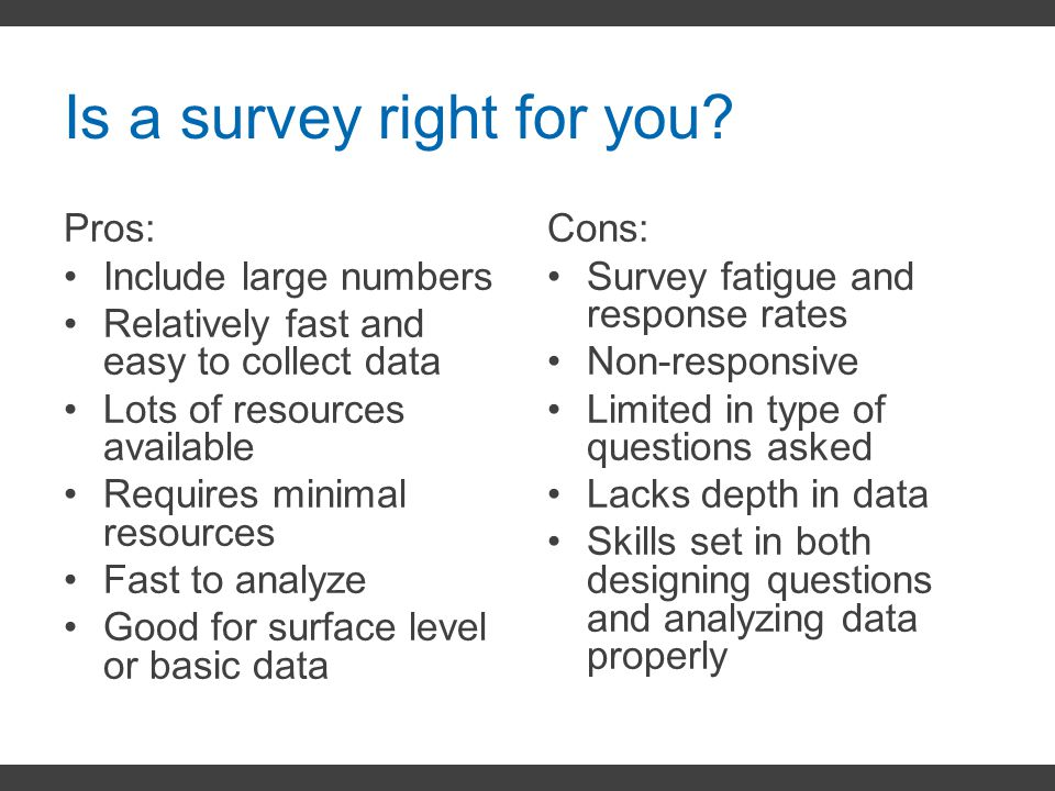Is a survey right for you