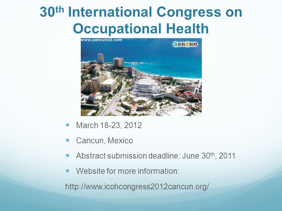 30th International Congress on Occupational Health