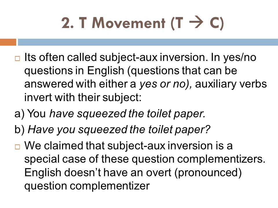 2. T Movement (T  C)