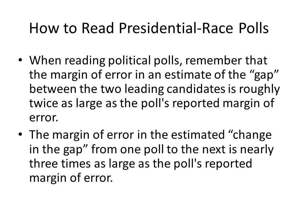 How to Read Presidential-Race Polls