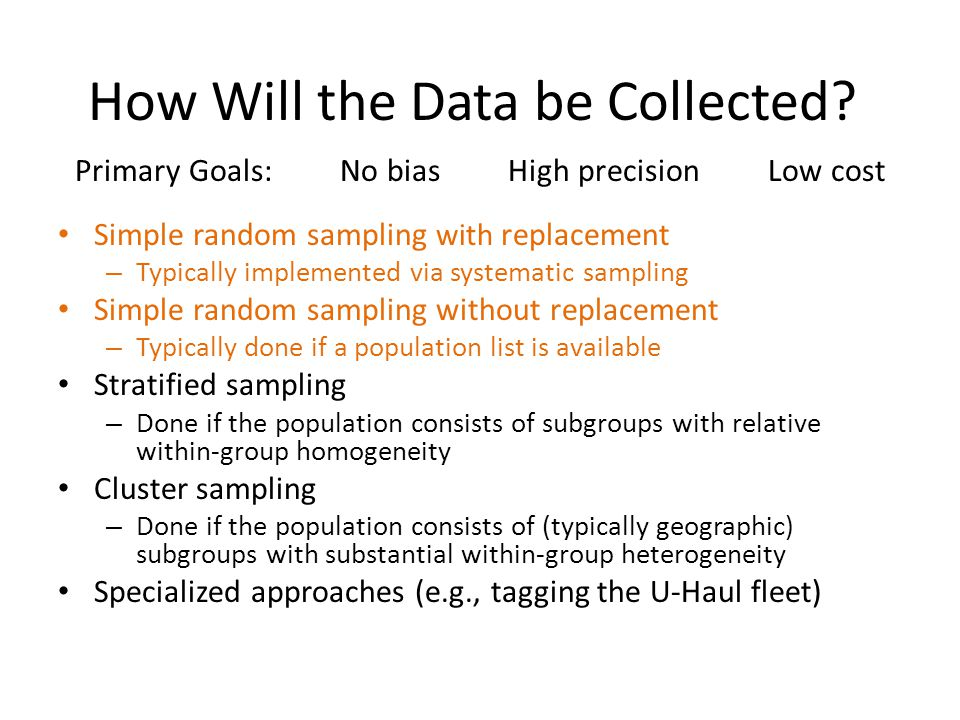 How Will the Data be Collected