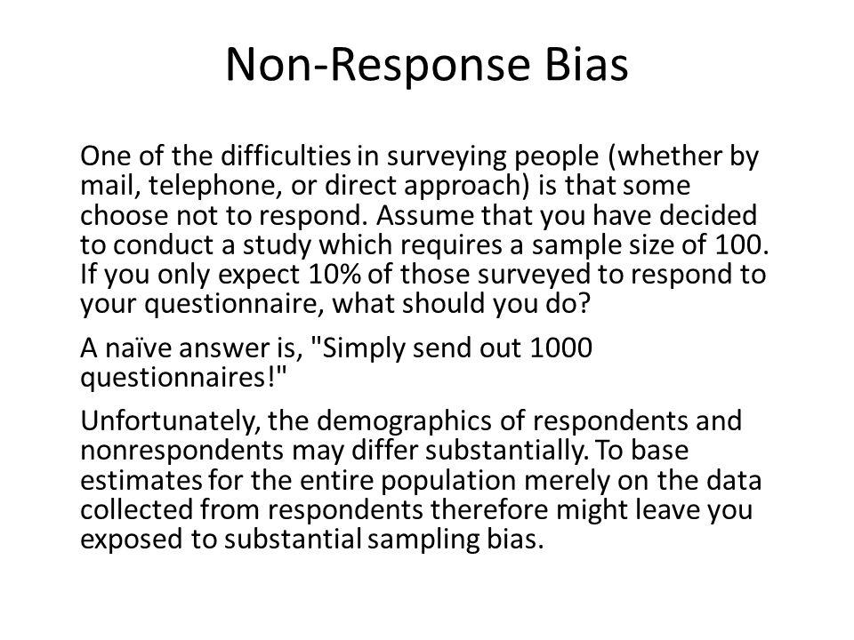 Non-Response Bias