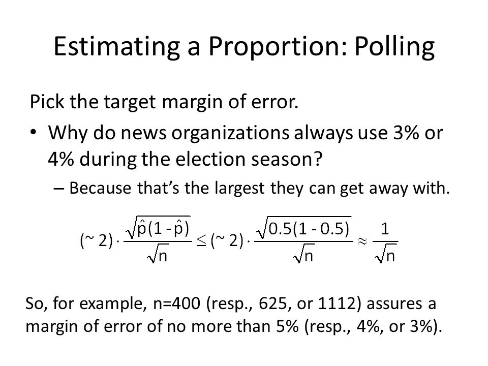 Estimating a Proportion: Polling