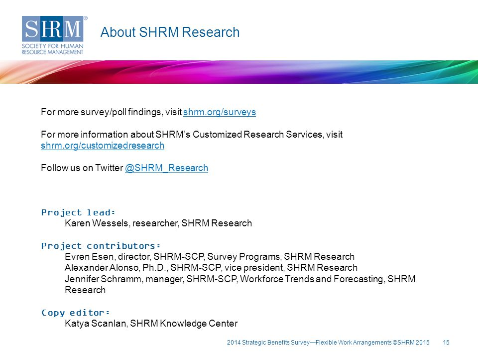 About SHRM Research