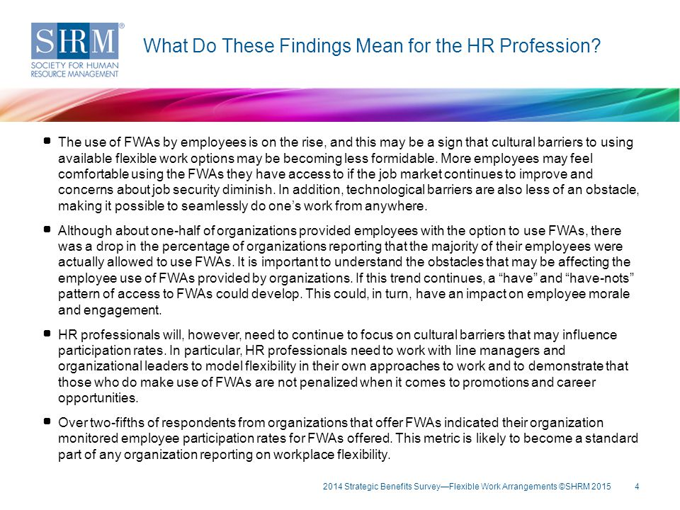What Do These Findings Mean for the HR Profession