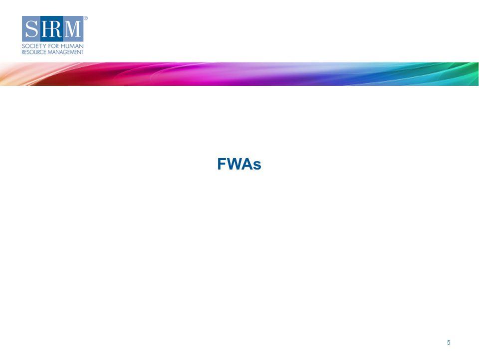 Key Findings FWAs 2014 Strategic Benefits Survey—Flexible Work Arrangements ©SHRM 2015