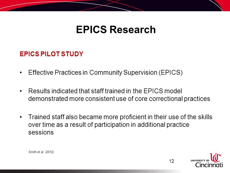 EPICS Research EPICS PILOT STUDY