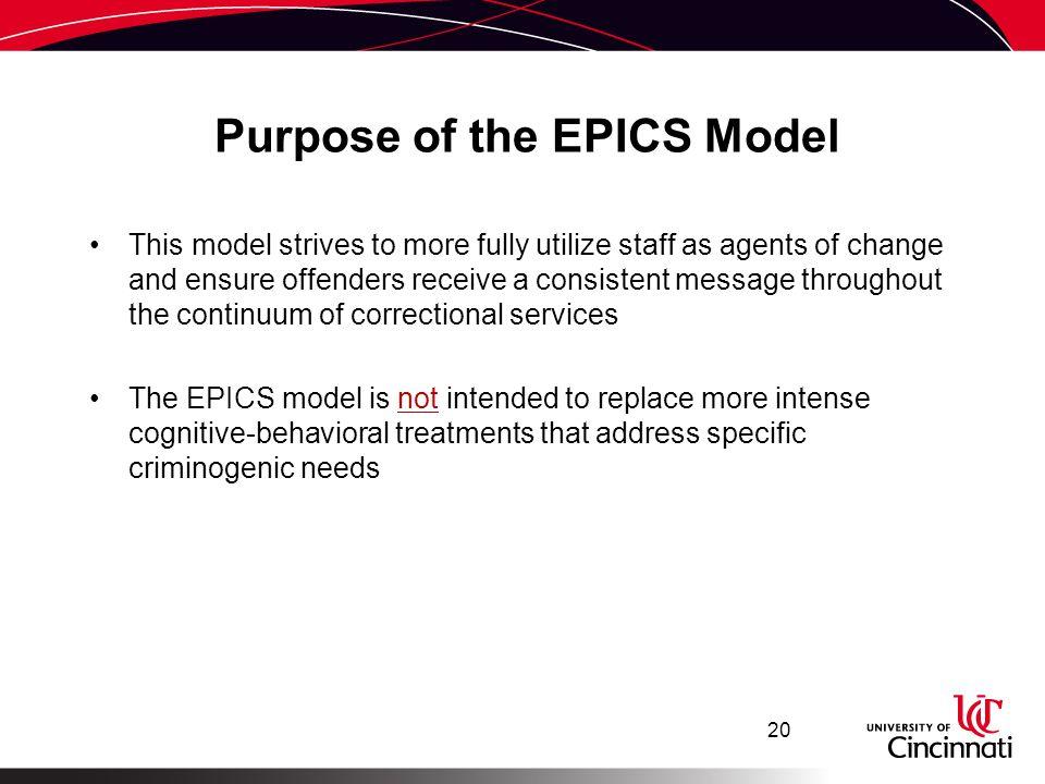 Purpose of the EPICS Model