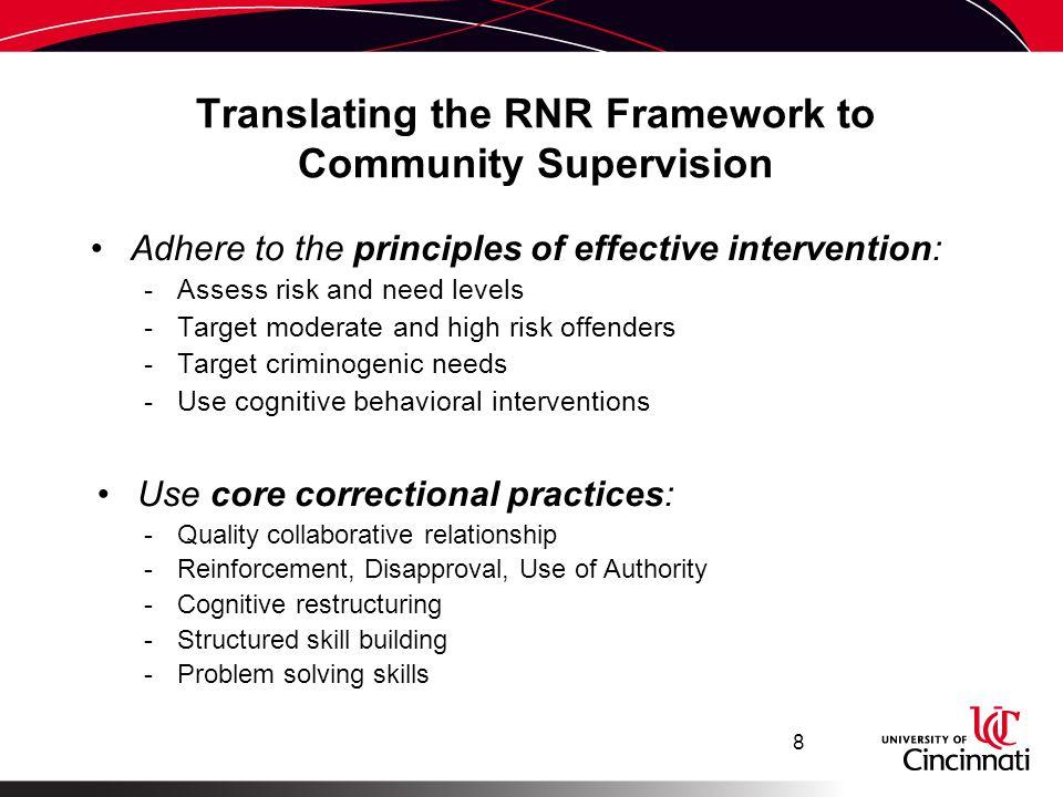 Translating the RNR Framework to Community Supervision