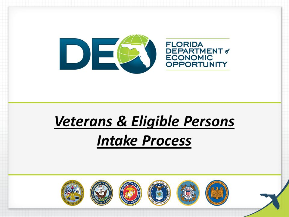 Veterans & Eligible Persons Intake Process