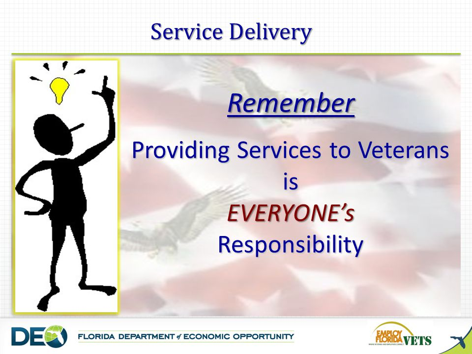Providing Services to Veterans