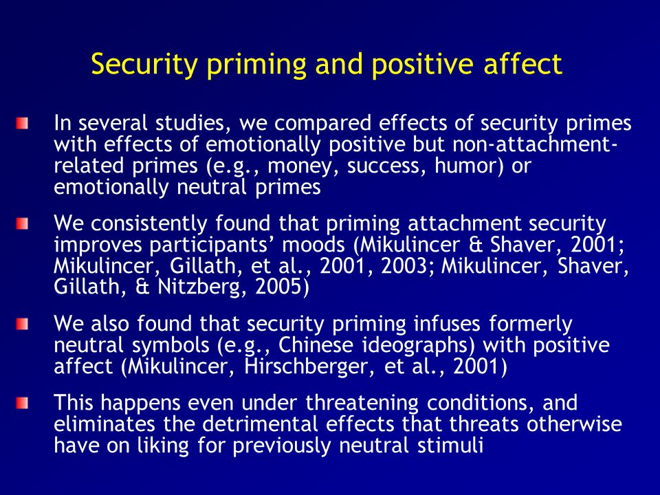 Security priming and positive affect