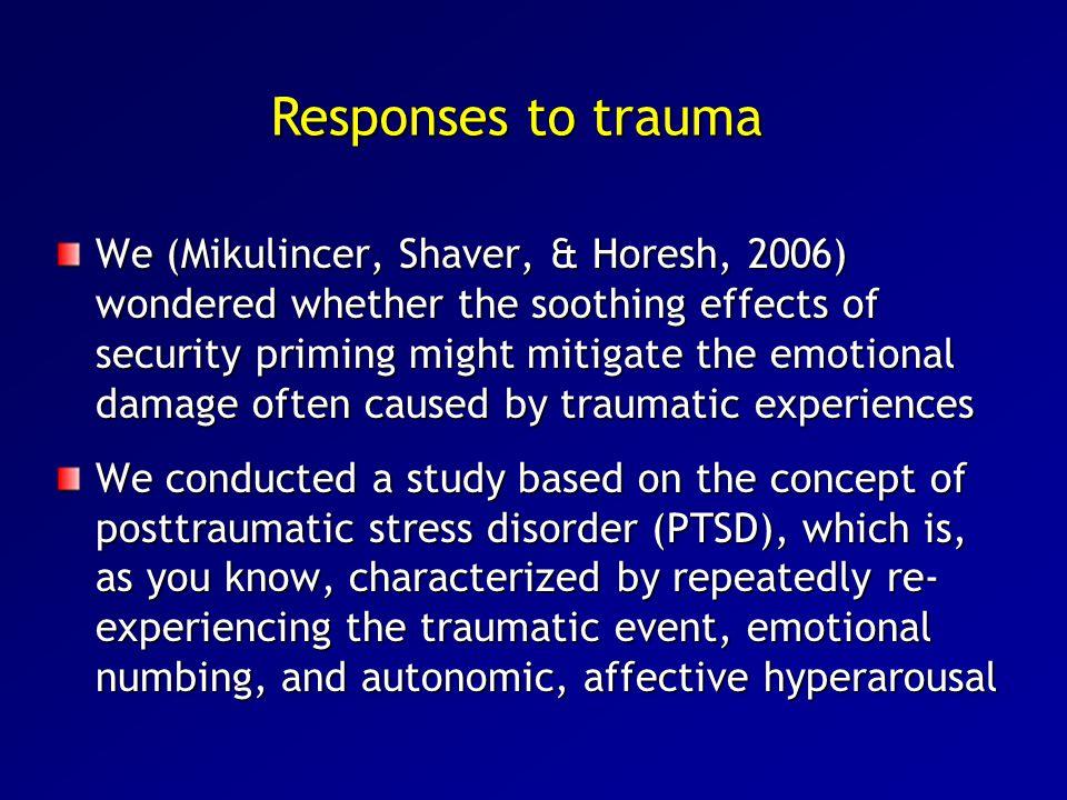 Responses to trauma