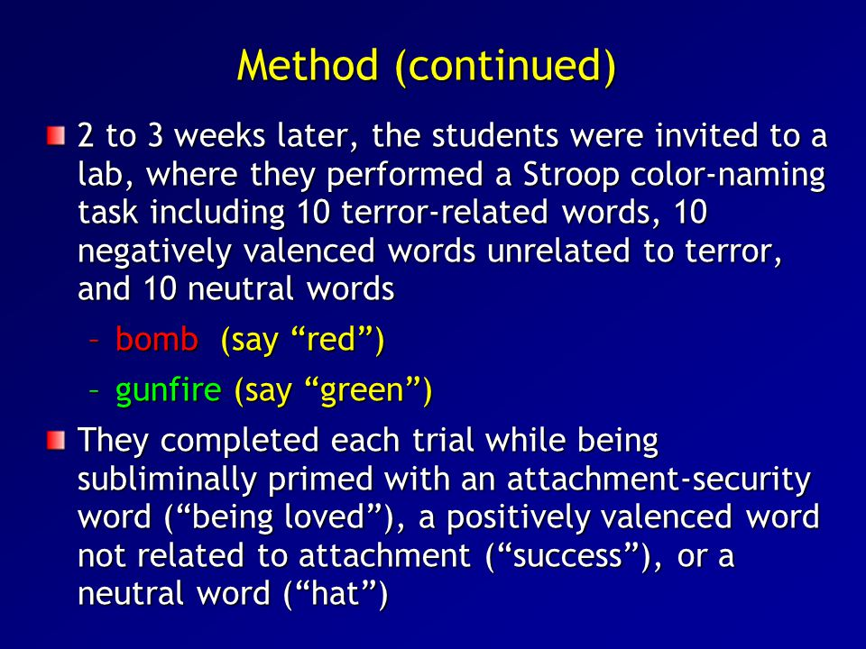 Method (continued)