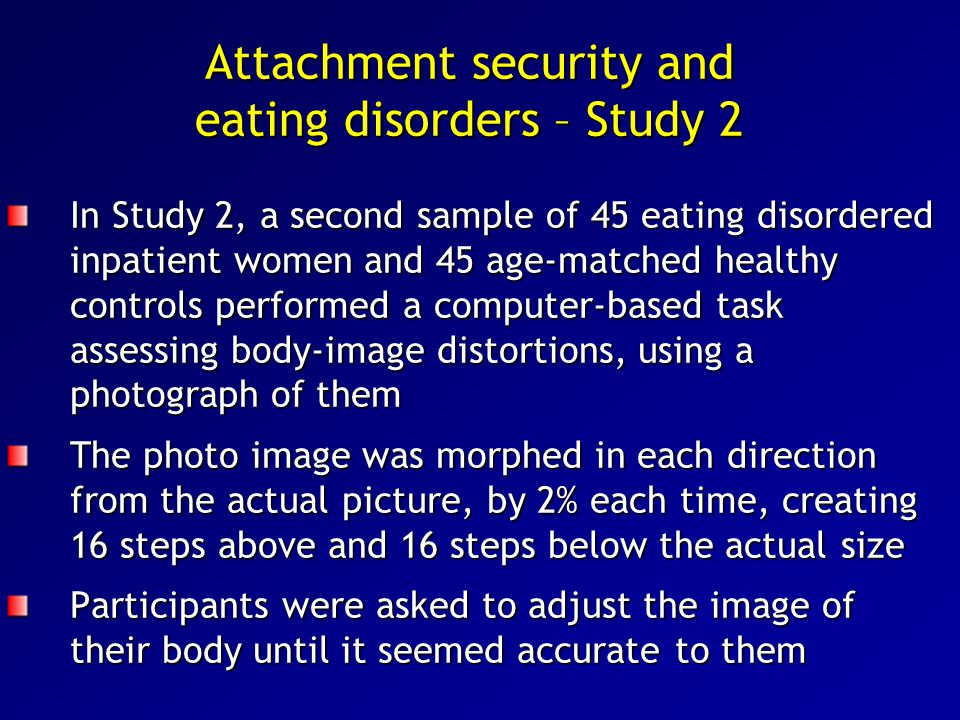 Attachment security and eating disorders – Study 2