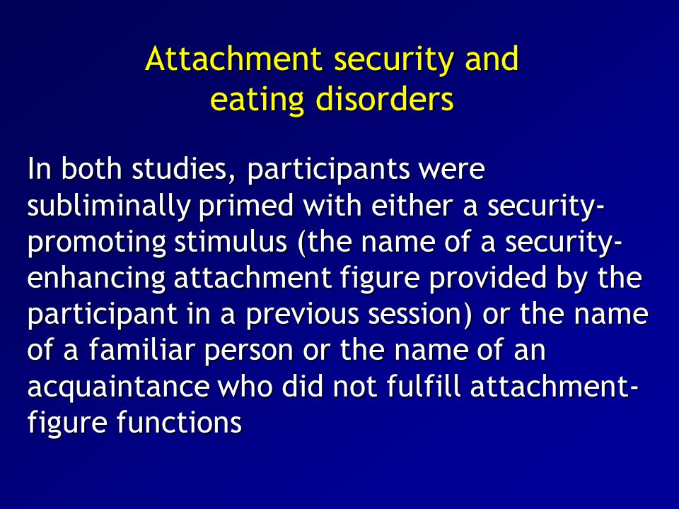 Attachment security and eating disorders