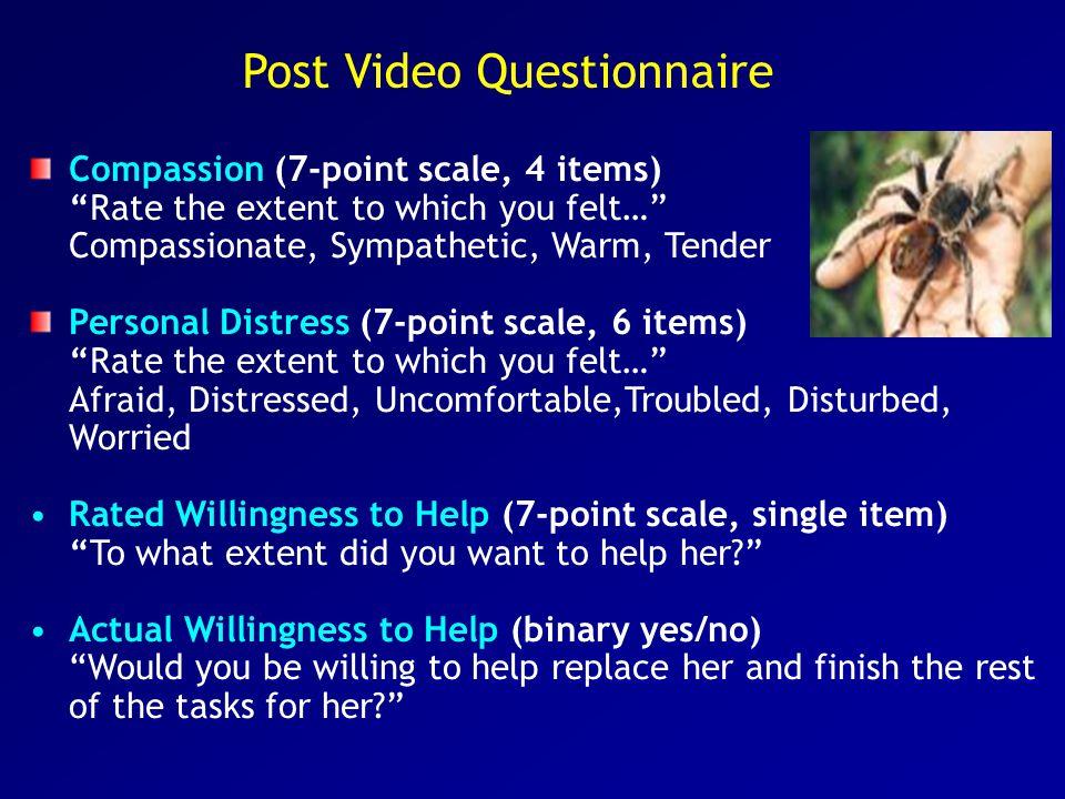 Post Video Questionnaire