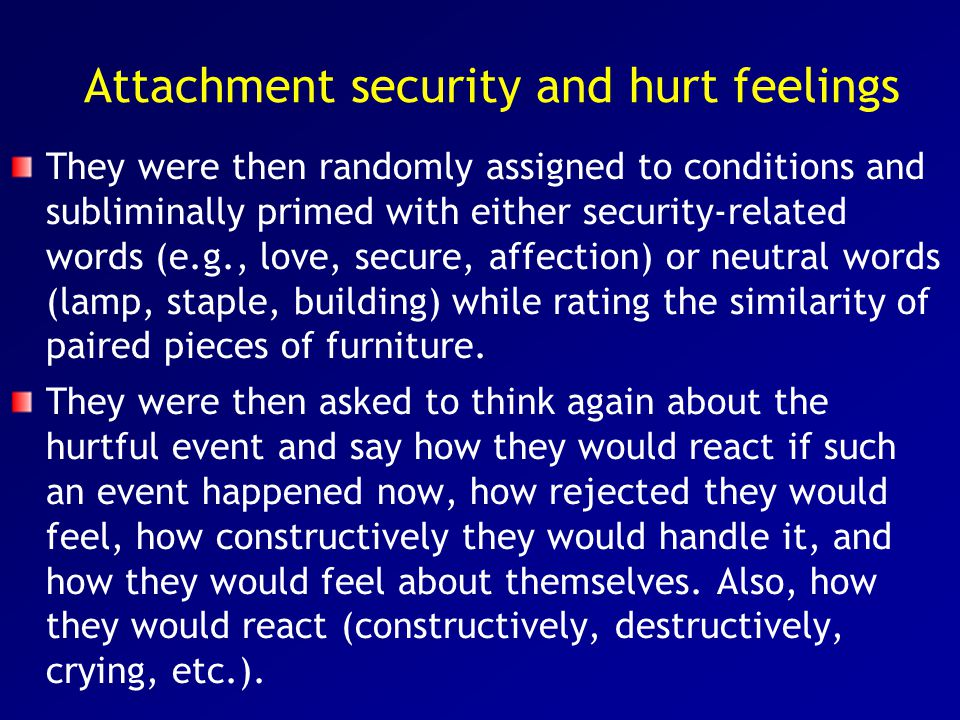 Attachment security and hurt feelings