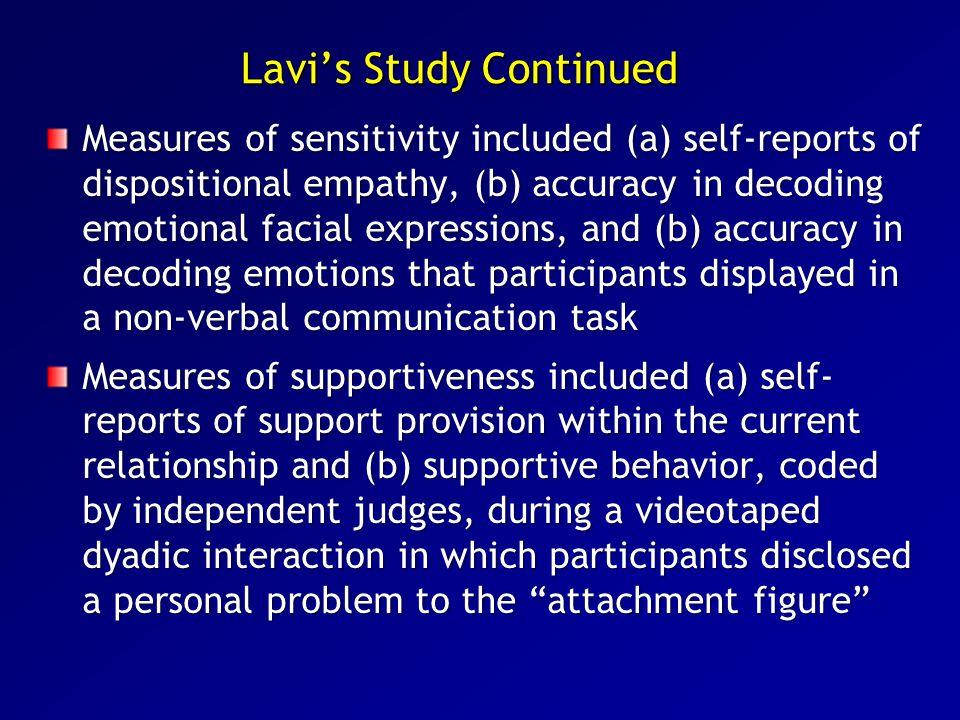 Lavi's Study Continued