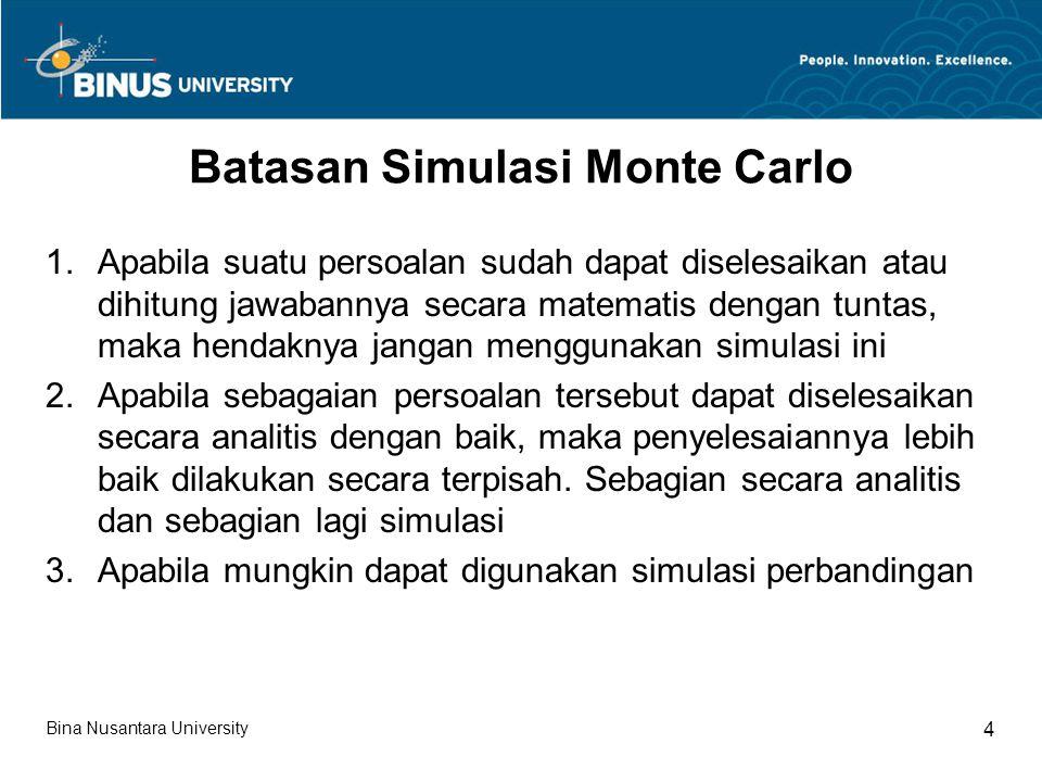 Batasan Simulasi Monte Carlo