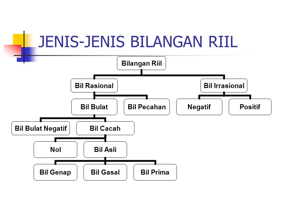 JENIS-JENIS BILANGAN RIIL