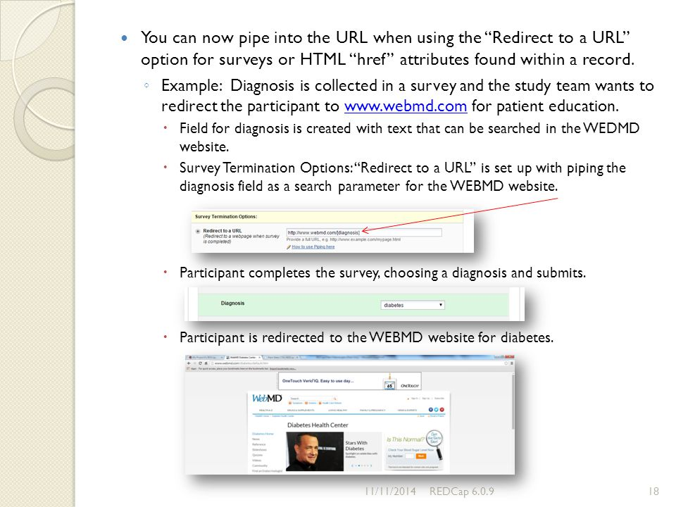 You can now pipe into the URL when using the Redirect to a URL option for surveys or HTML href attributes found within a record.