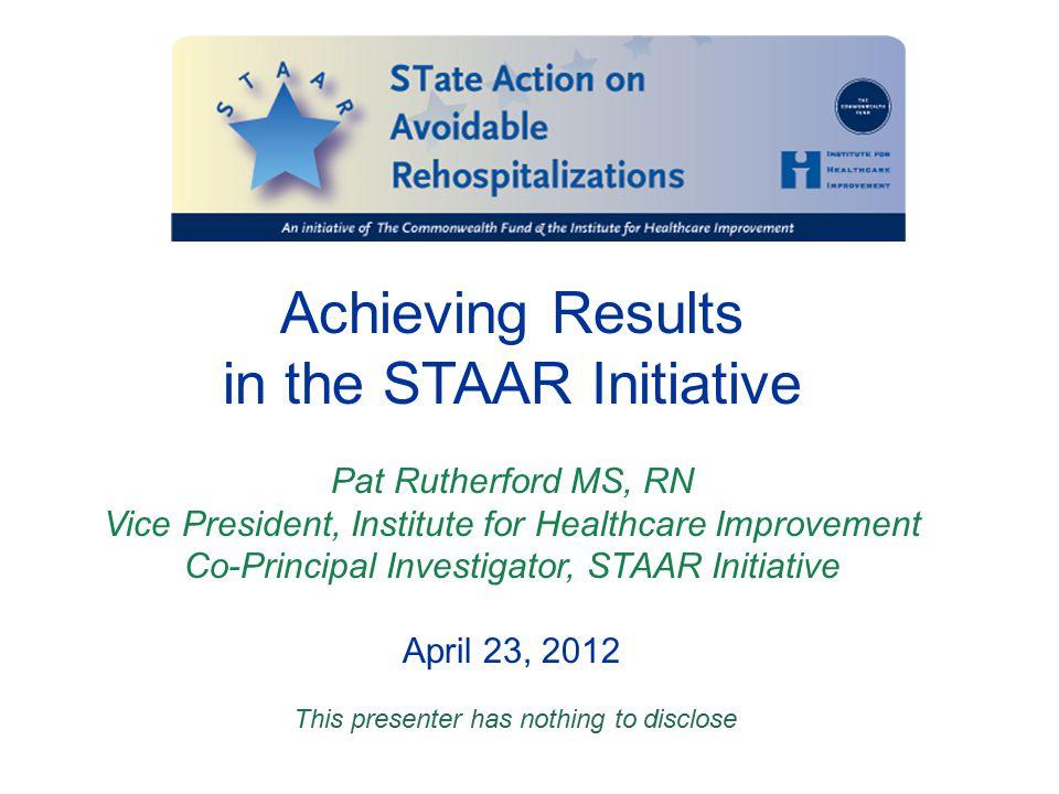 in the STAAR Initiative