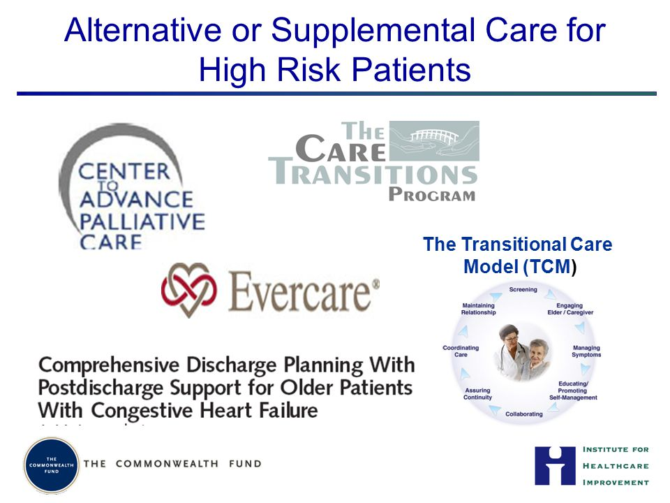 Alternative or Supplemental Care for High Risk Patients