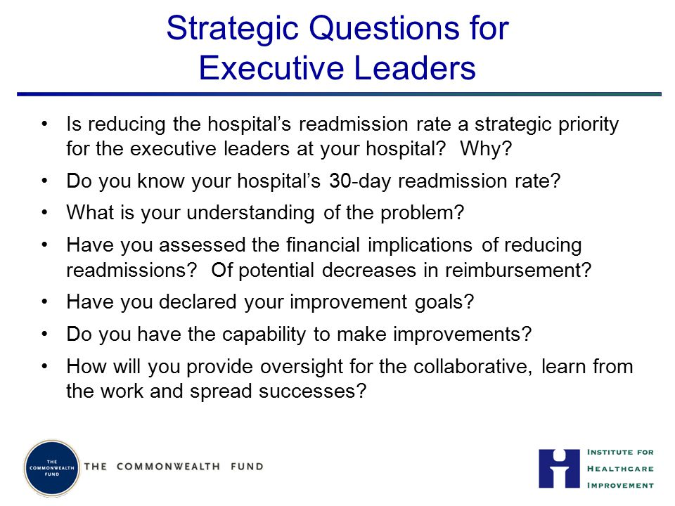 Strategic Questions for Executive Leaders