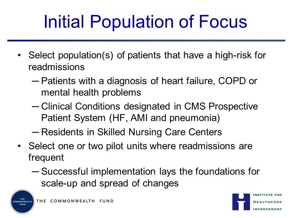 Initial Population of Focus