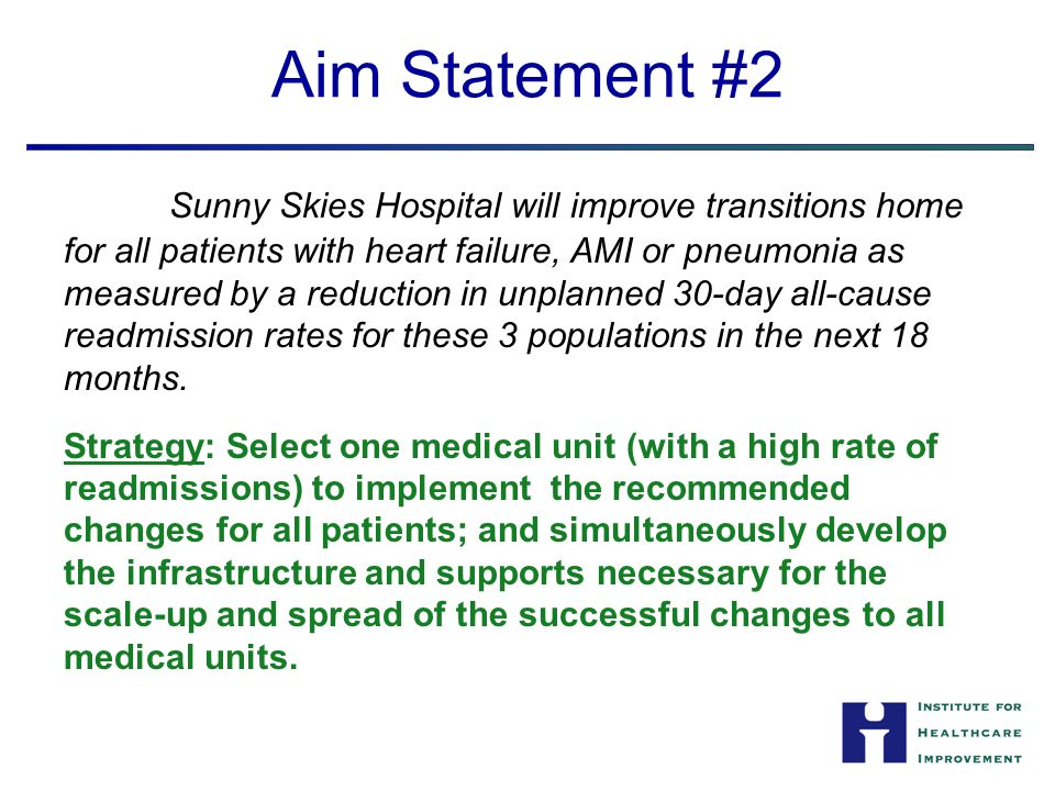 Aim Statement #2