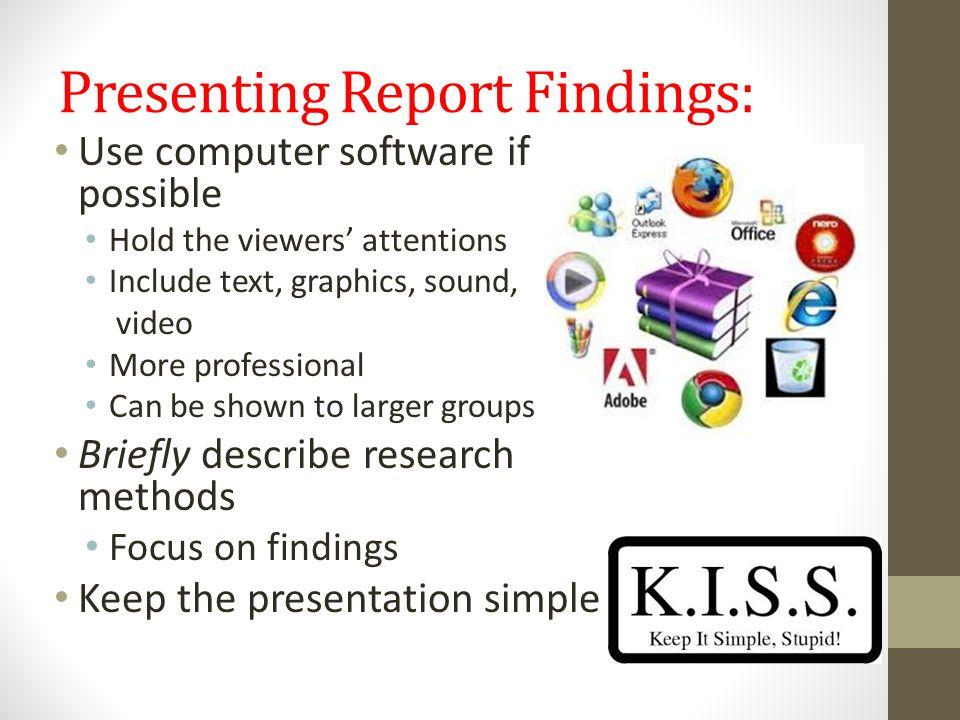 Presenting Report Findings: