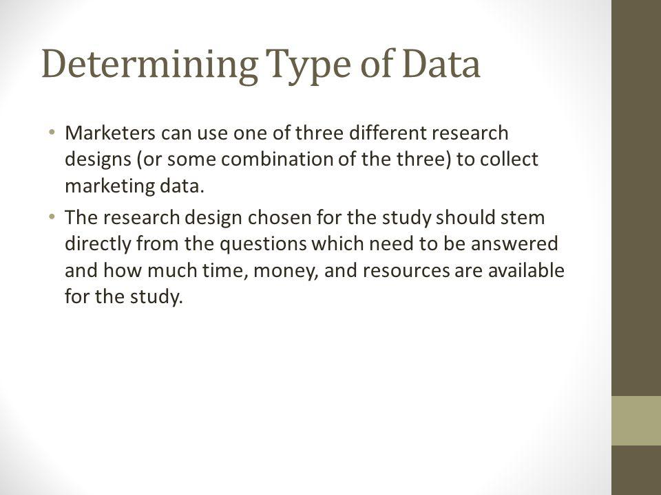 Determining Type of Data