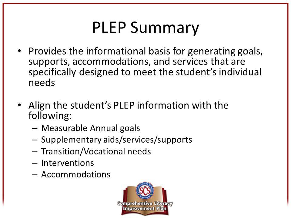 PLEP Summary