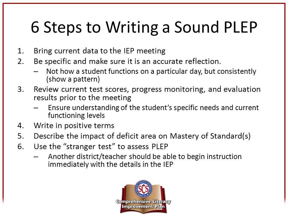 6 Steps to Writing a Sound PLEP